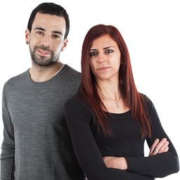 Verónica Gómez y Jon Egaña