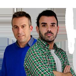 Santiago González y Fran Barbosa