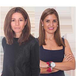 Ana Huguet y Ruth Delgado