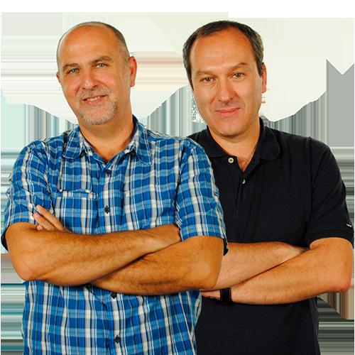 Antonio Martínez y Elio Castro