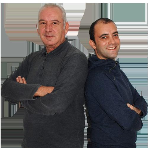Nacho Lahuerta y Víctor Guerrero