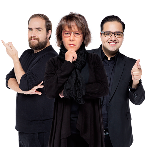 Gabriela Warkentin, Javier Risco, Francisco Alanís 'Sopitas'