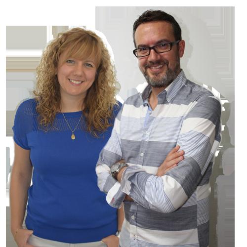 Raúl Martínez y Amanda Ortolà
