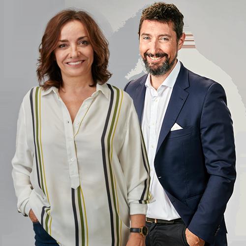 Pepa Bueno y Toni Garrido