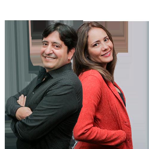 Aleyda Salcedo y Vicente Moros
