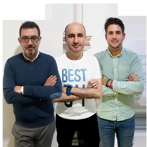 Juan Carlos Yubero, Santi Sáez y Guillermo Coscolla
