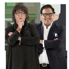 Gabriela Warkentin y Javier Risco