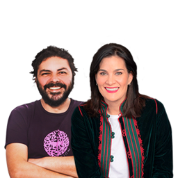 Pascual Gaviria y Vanessa de la Torre