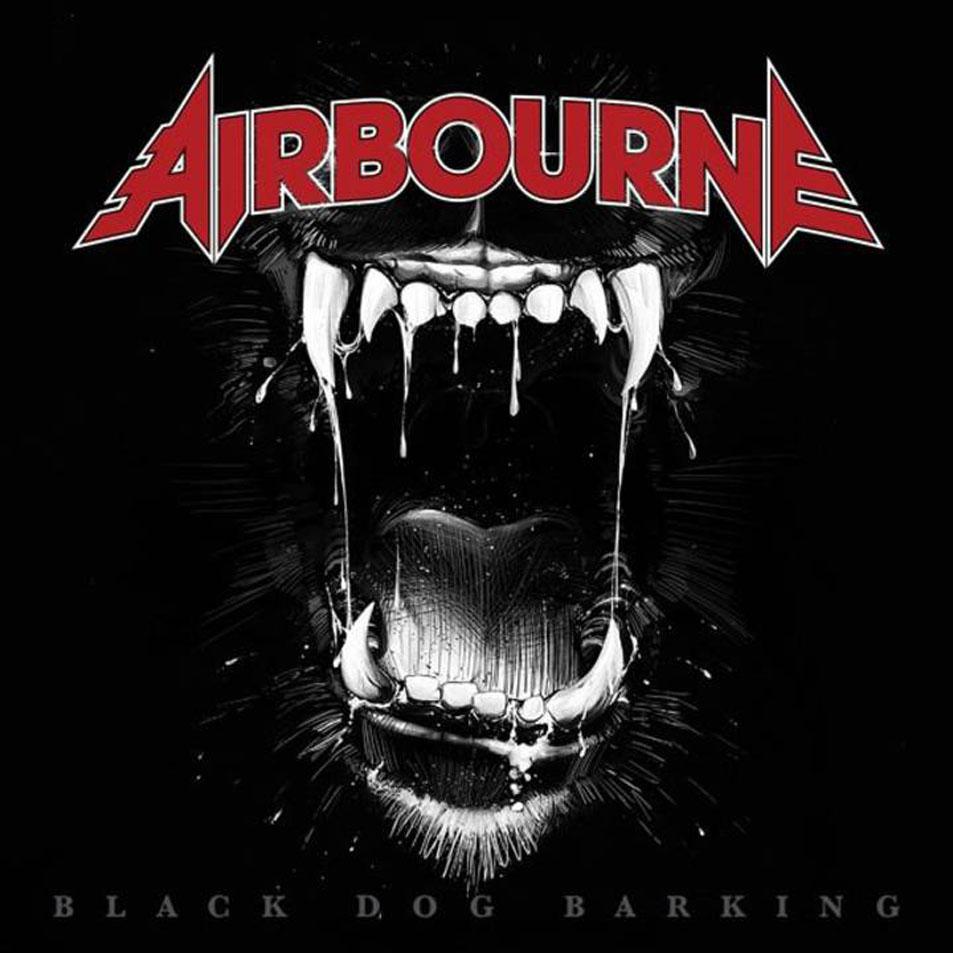 Black dog barking